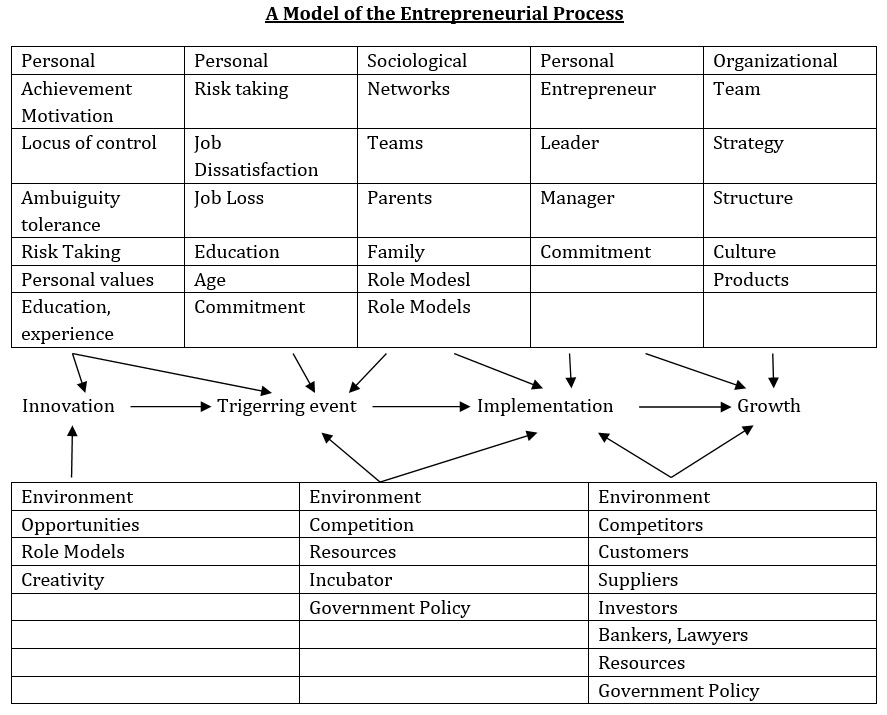 A Model of the Entrepreneurial Process