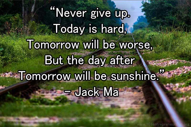 jack ma entrepreneur quotes